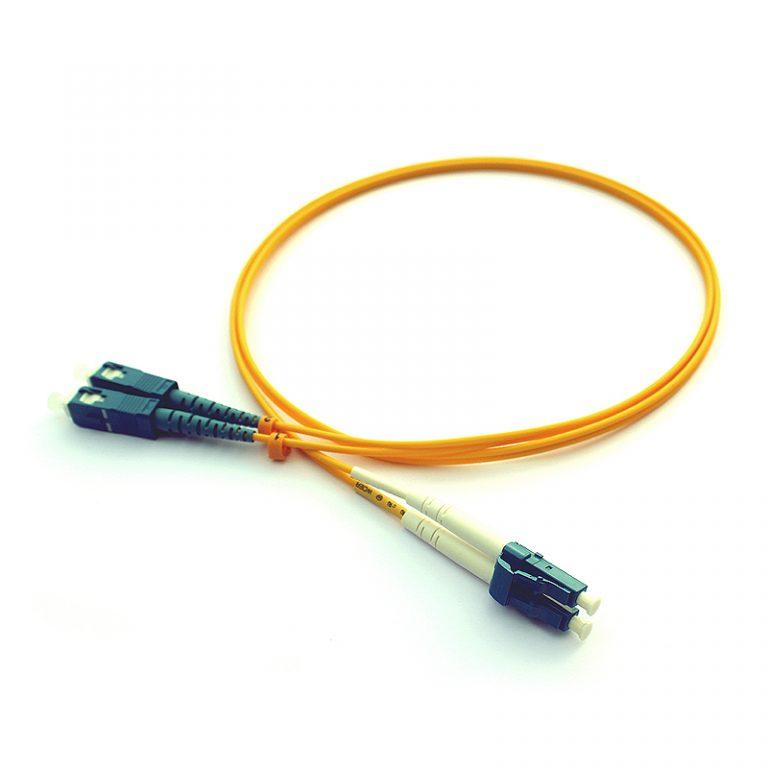 SC/PC-LC/PC DX Single Mode Fiber Optik Patch Kablo