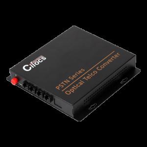 Cifocs CFC-T/R4PSTN fiber optik analog dönüştürücü seti