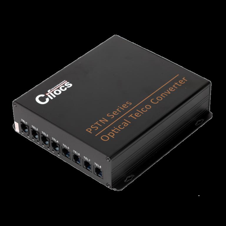 Cifocs CFC-T/R8PSTN fiber optik analog dönüştürücü seti