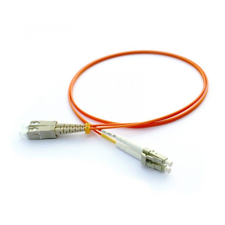 SC/PC-LC/PC DX OM2 Multi Mode Fiber Optik Patch Kablo