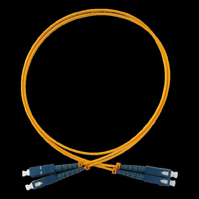 SC/PC-SC/PC DX Single Mode Fiber Optik Patch Kablo